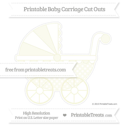 Free Beige Dotted Pattern Extra Large Baby Carriage Cut Outs