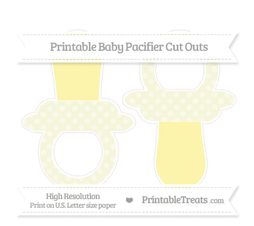 Free Beige Dotted Pattern Large Baby Pacifier Cut Outs