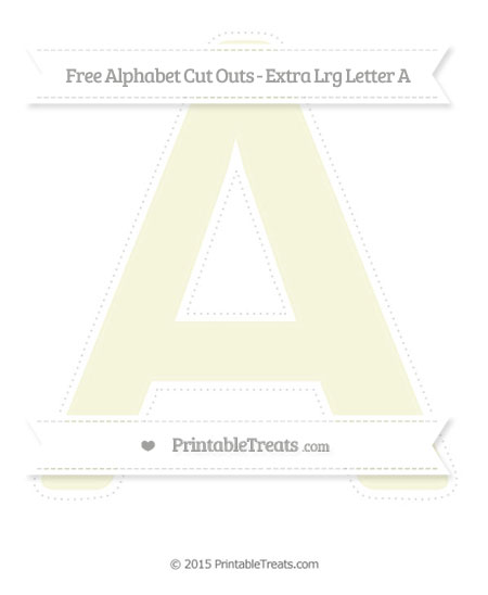 Free Beige Extra Large Capital Letter A Cut Outs