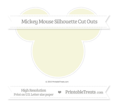 Free Beige Extra Large Mickey Mouse Silhouette Cut Outs