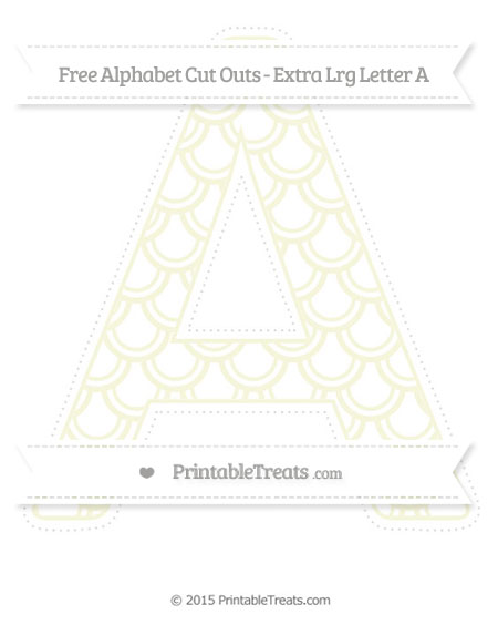 Free Beige Fish Scale Pattern Extra Large Capital Letter A Cut Outs