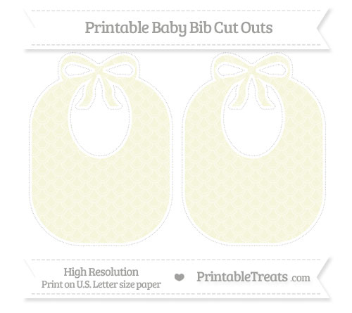 Free Beige Fish Scale Pattern Large Baby Bib Cut Outs