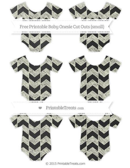 Free Beige Herringbone Pattern Chalk Style Small Baby Onesie Cut Outs