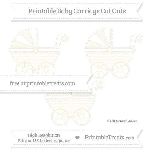 Free Beige Herringbone Pattern Medium Baby Carriage Cut Outs