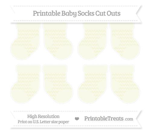 Free Beige Herringbone Pattern Small Baby Socks Cut Outs