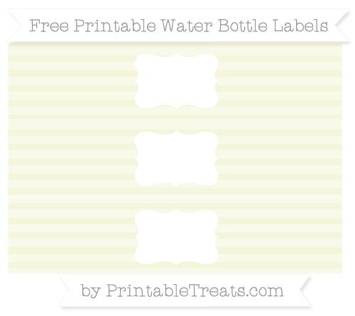 Free Beige Horizontal Striped Water Bottle Labels