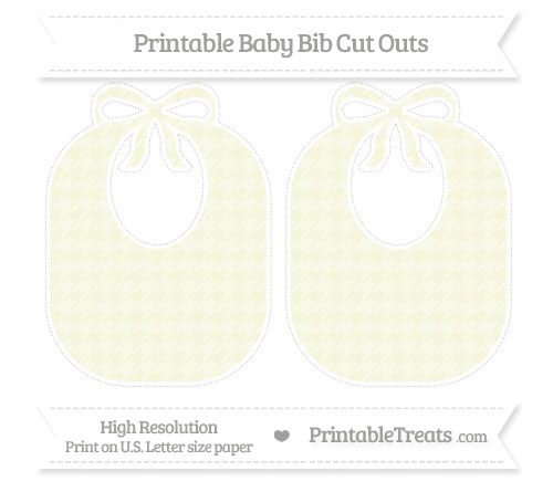 Free Beige Houndstooth Pattern Large Baby Bib Cut Outs