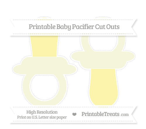 Free Beige Large Baby Pacifier Cut Outs