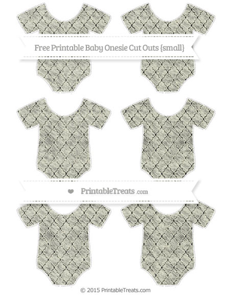 Free Beige Moroccan Tile Chalk Style Small Baby Onesie Cut Outs