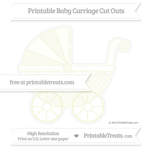 Free Beige Moroccan Tile Extra Large Baby Carriage Cut Outs