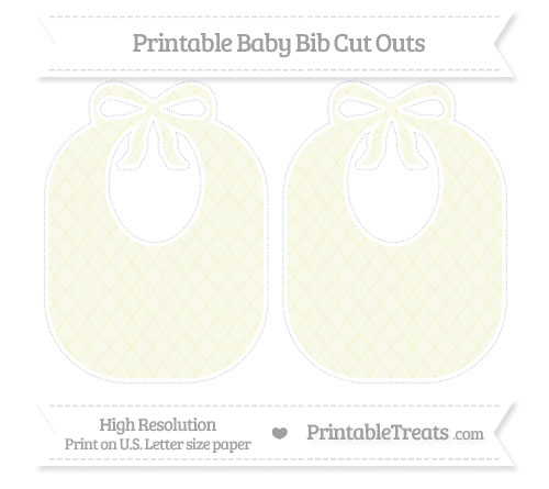 Free Beige Moroccan Tile Large Baby Bib Cut Outs