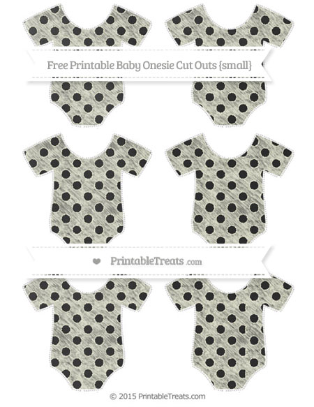 Free Beige Polka Dot Chalk Style Small Baby Onesie Cut Outs