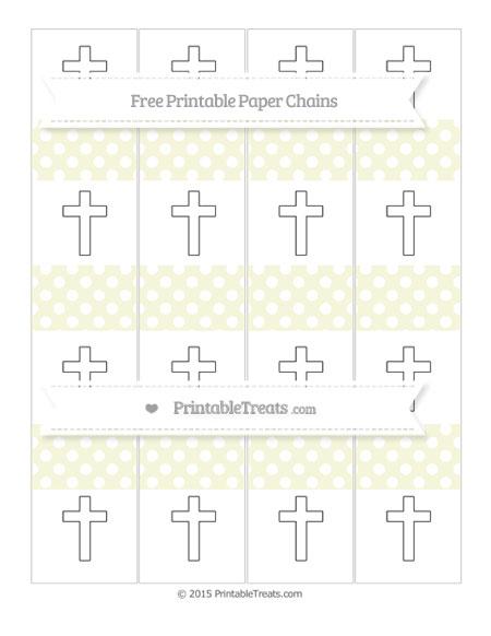 Free Beige Polka Dot Cross Paper Chains