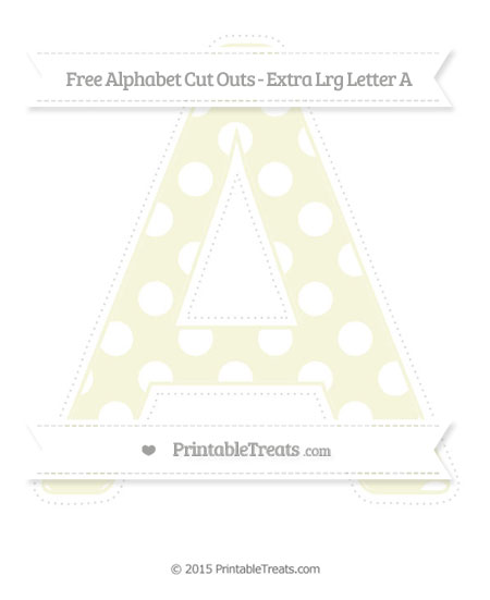 Free Beige Polka Dot Extra Large Capital Letter A Cut Outs