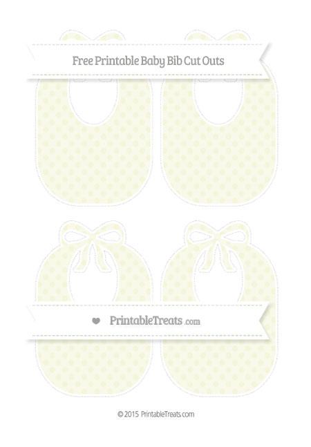 Free Beige Polka Dot Medium Baby Bib Cut Outs