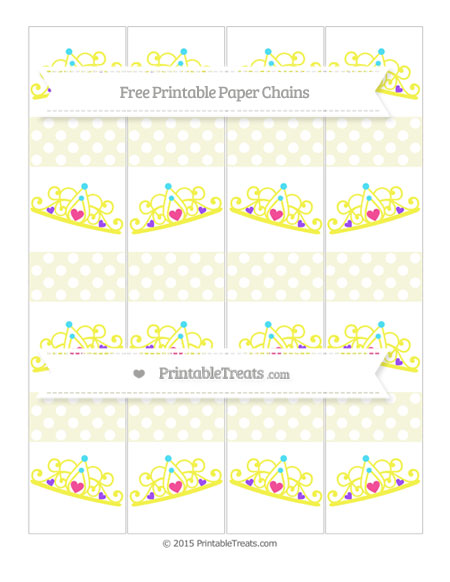 Free Beige Polka Dot Princess Tiara Paper Chains
