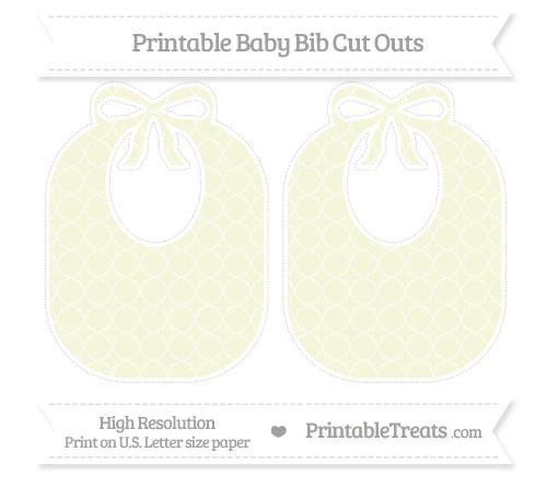 Free Beige Quatrefoil Pattern Large Baby Bib Cut Outs
