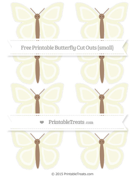 Free Beige Small Butterfly Cut Outs