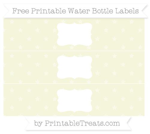 Free Beige Star Pattern Water Bottle Labels