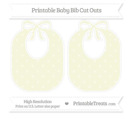 Free Beige Star Pattern Large Baby Bib Cut Outs