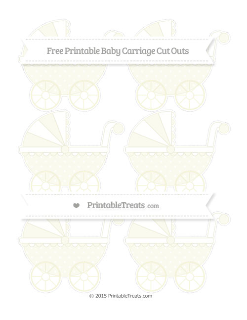 Free Beige Star Pattern Small Baby Carriage Cut Outs