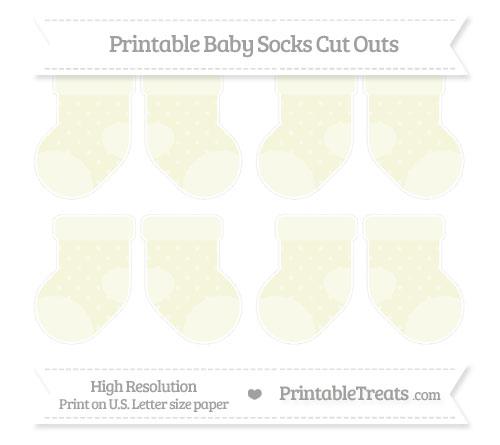 Free Beige Star Pattern Small Baby Socks Cut Outs