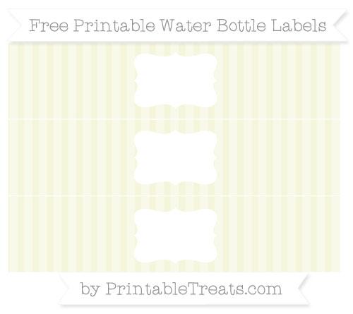 Free Beige Striped Water Bottle Labels