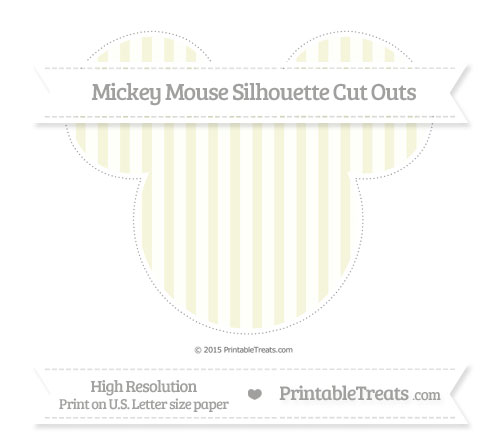 Free Beige Striped Extra Large Mickey Mouse Silhouette Cut Outs