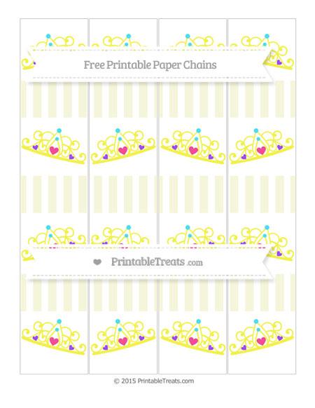 Free Beige Striped Princess Tiara Paper Chains