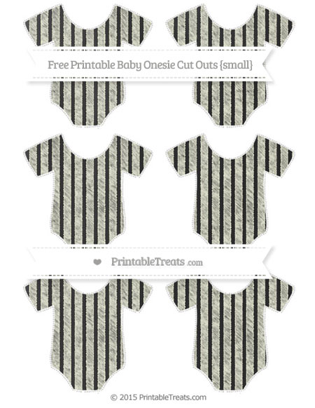 Free Beige Thin Striped Pattern Chalk Style Small Baby Onesie Cut Outs