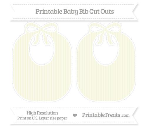 Free Beige Thin Striped Pattern Large Baby Bib Cut Outs