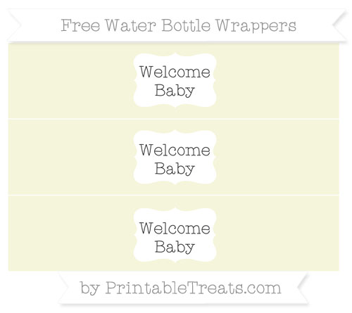 Free Beige Welcome Baby Water Bottle Wrappers
