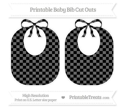 Free Black Checker Pattern Large Baby Bib Cut Outs