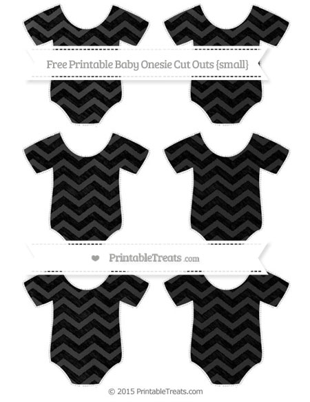 Free Black Chevron Chalk Style Small Baby Onesie Cut Outs