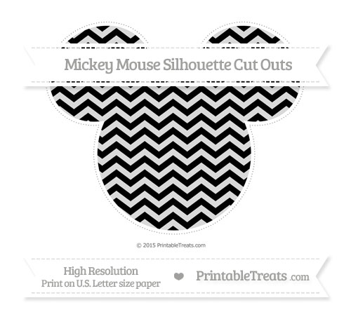 Free Black Chevron Extra Large Mickey Mouse Silhouette Cut Outs