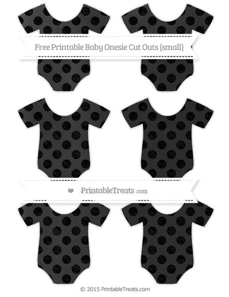 Free Black Dotted Pattern Chalk Style Small Baby Onesie Cut Outs