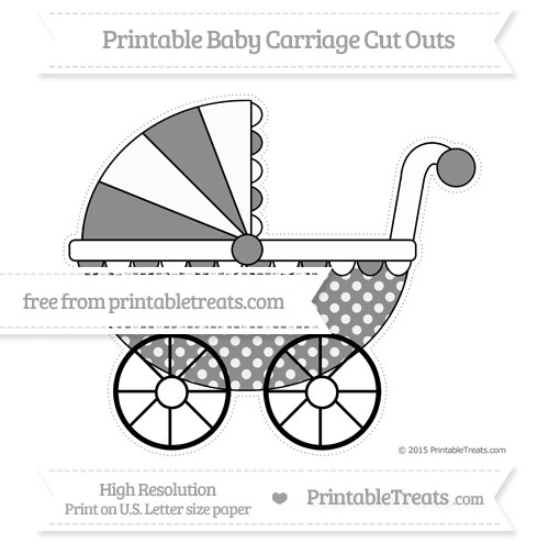 Free Black Dotted Pattern Extra Large Baby Carriage Cut Outs