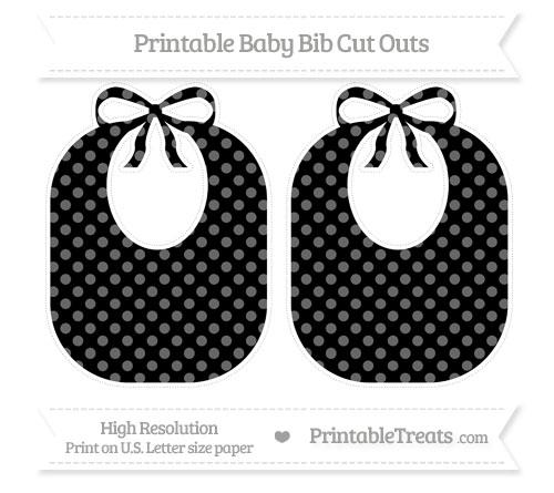 Free Black Dotted Pattern Large Baby Bib Cut Outs