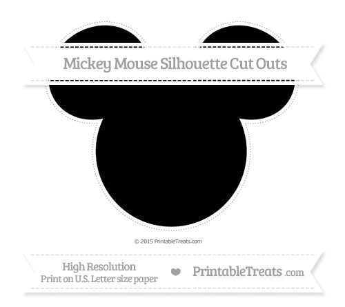 Free Black Extra Large Mickey Mouse Silhouette Cut Outs
