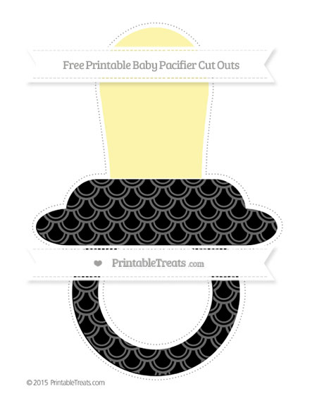 Free Black Fish Scale Pattern Extra Large Baby Pacifier Cut Outs