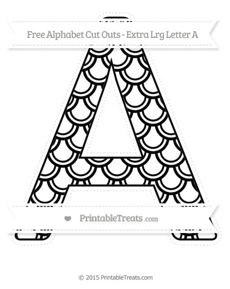 Free Black Fish Scale Pattern Extra Large Capital Letter A Cut Outs