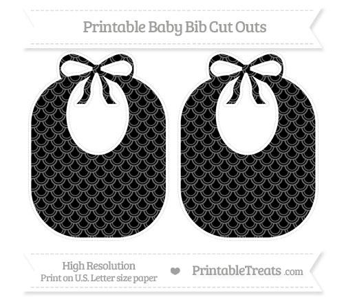 Free Black Fish Scale Pattern Large Baby Bib Cut Outs