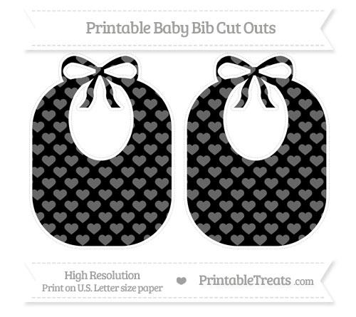 Free Black Heart Pattern Large Baby Bib Cut Outs