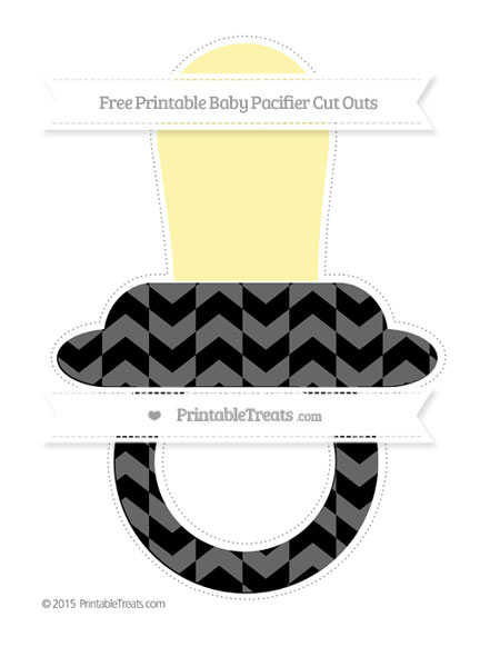 Free Black Herringbone Pattern Extra Large Baby Pacifier Cut Outs