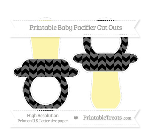 Free Black Herringbone Pattern Large Baby Pacifier Cut Outs