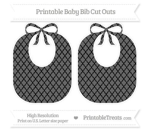 Free Black Moroccan Tile Large Baby Bib Cut Outs