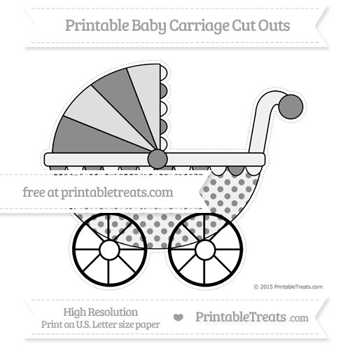 Free Black Polka Dot Extra Large Baby Carriage Cut Outs