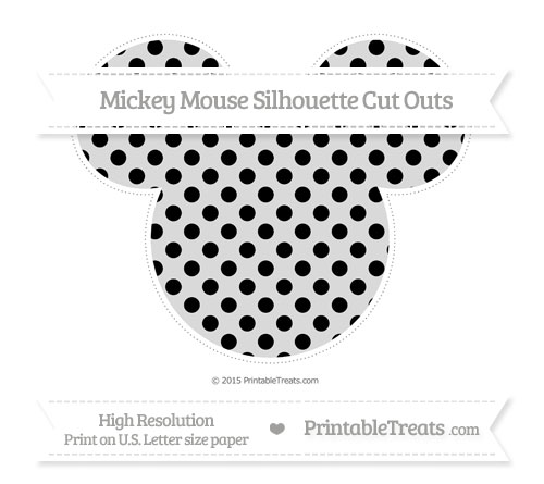 Free Black Polka Dot Extra Large Mickey Mouse Silhouette Cut Outs