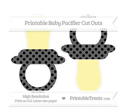 Free Black Polka Dot Large Baby Pacifier Cut Outs