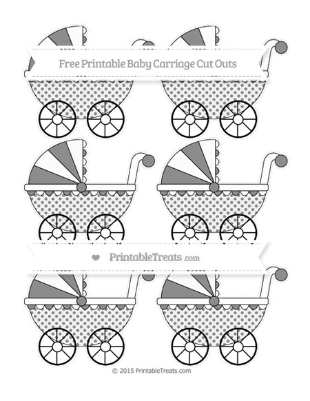 Free Black Polka Dot Small Baby Carriage Cut Outs